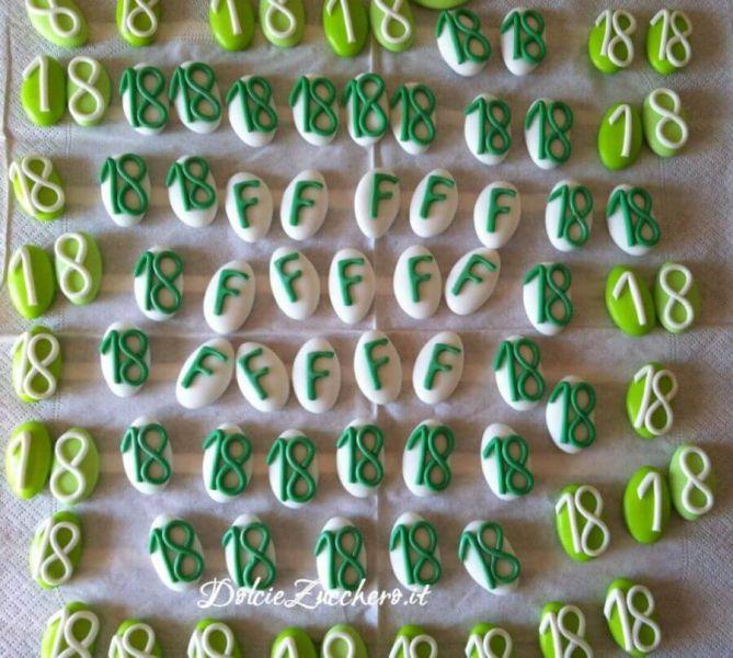 Popolare Confetti decorati segnaposto per 18 anni | Dolci e Zucchero FV13