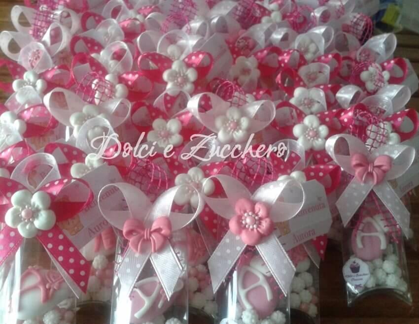Preferenza segnaposti confetti decorati per nascita RP82