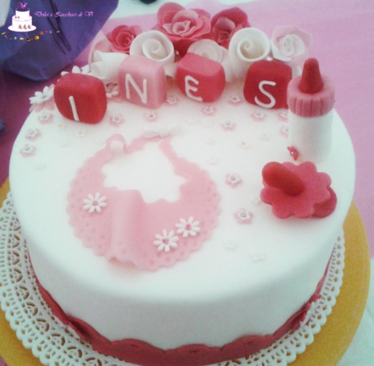 Ben noto Torte per Battesimo Decorate in pasta di zucchero | Dolci e Zucchero LQ19