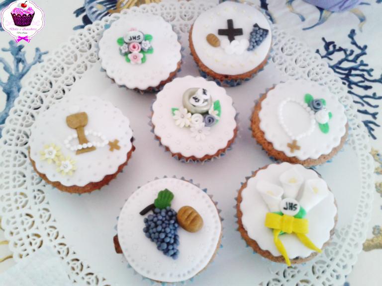 Cupcake Matrimonio Segnaposto.I Miei Cupcake Per Comunione Dolci E Zucchero
